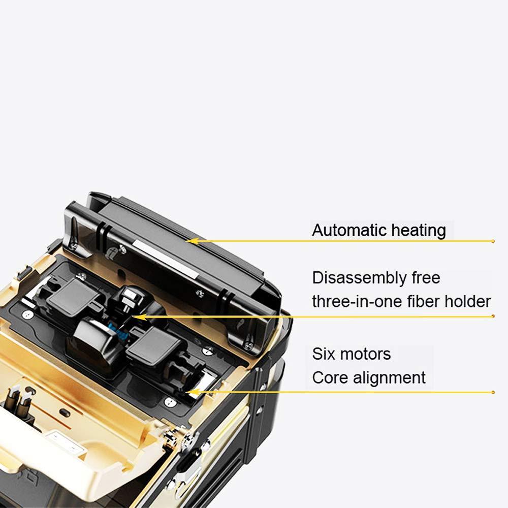 Ai-8C Signal Fire Fiber Fusion Splicer w//Fiber Holder Quad-Core Chip CPU tzt#