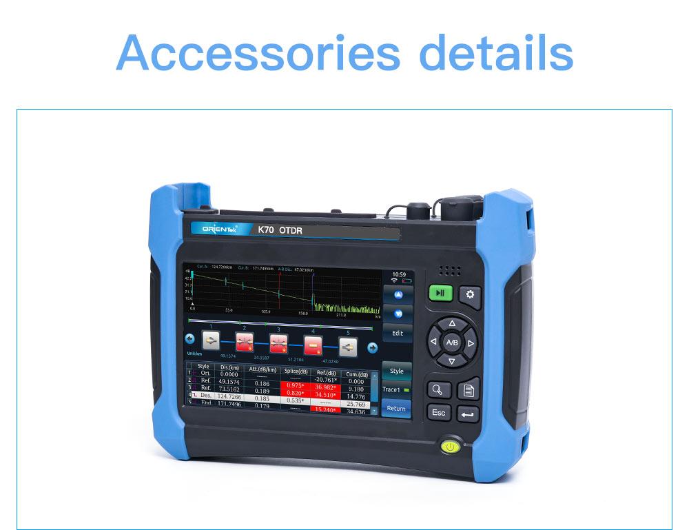 Orientek K70 OTDR SM и MM 850/1300/1310/1550 нм + оптический источник света + 10 мВт VFL Подробнее